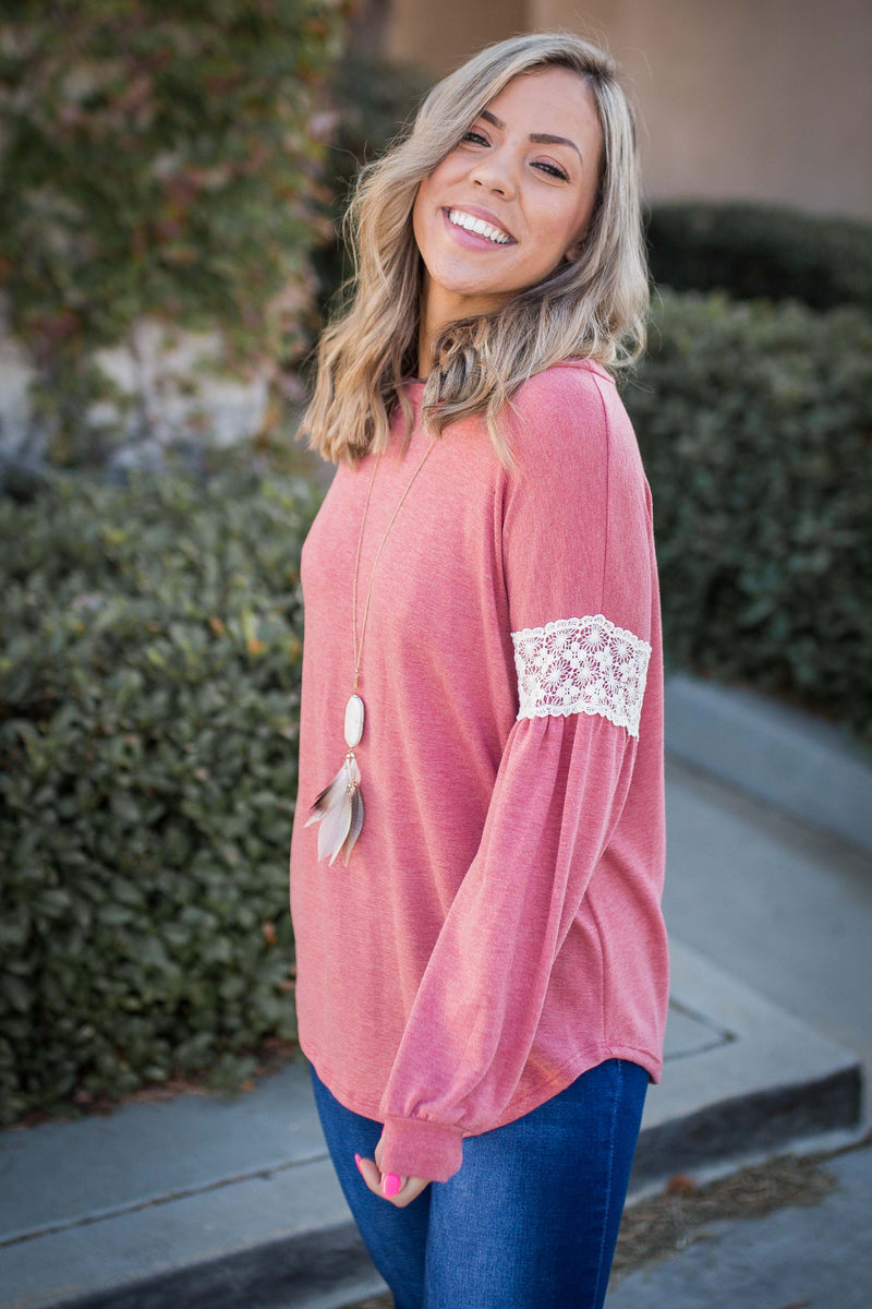 Touch of Lace Long Sleeve Top