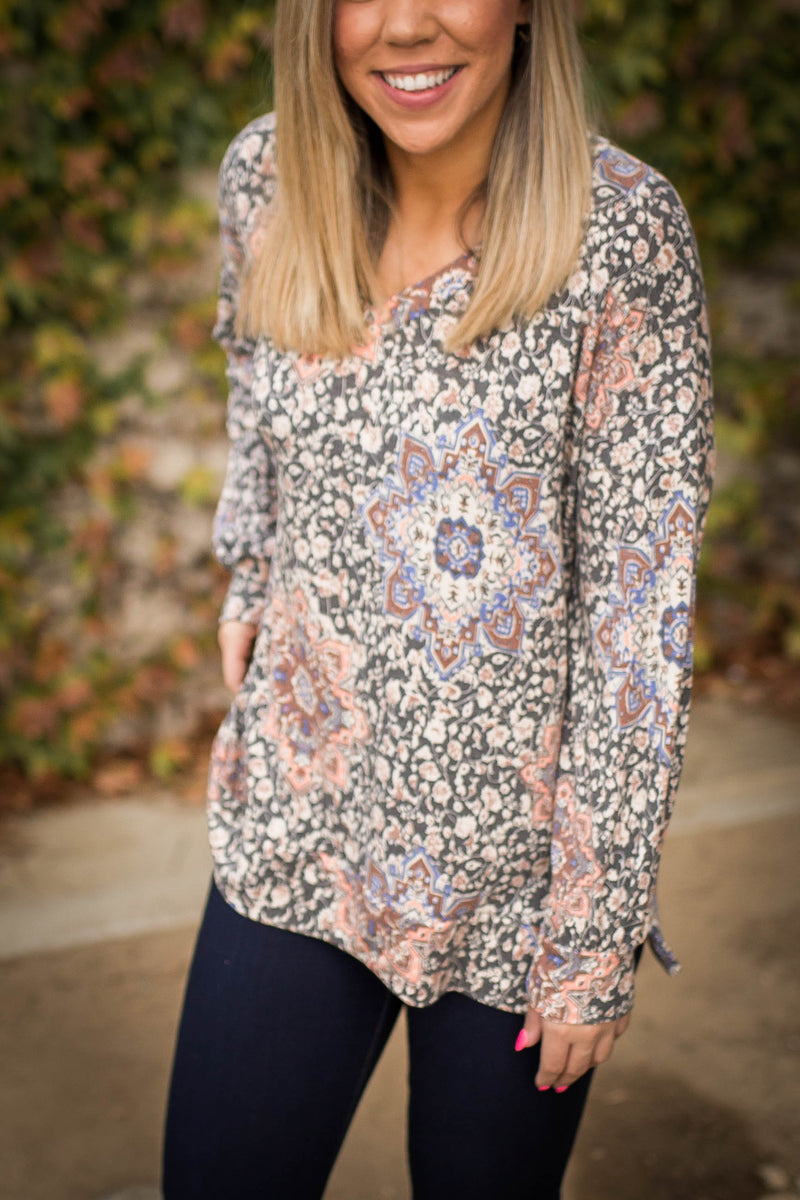 Mosaic Beauty Long Sleeve Top