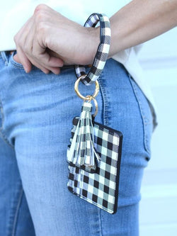 Wear It All Plaid Keychain Wallet