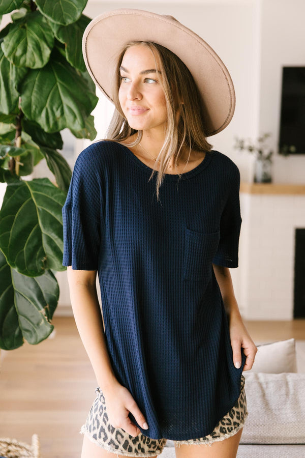 Always Be Yours Top in Navy