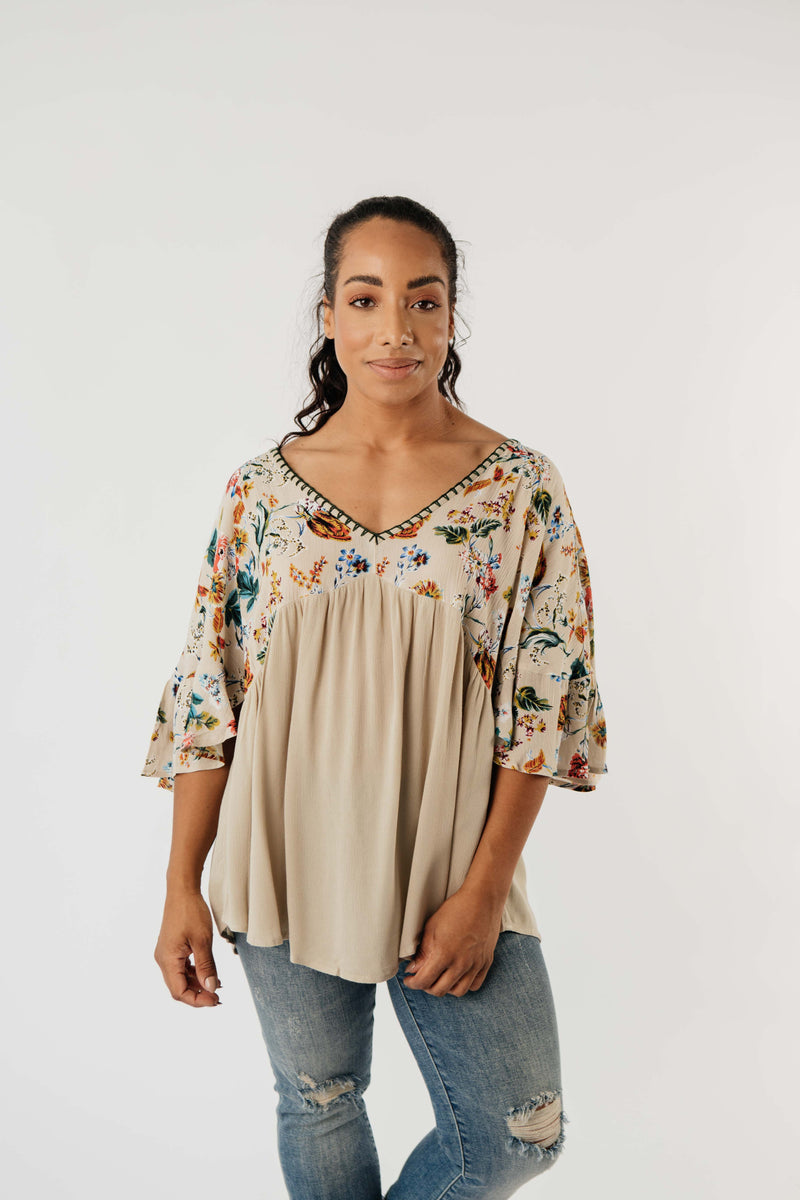 Floral Focus On Fall Blouse