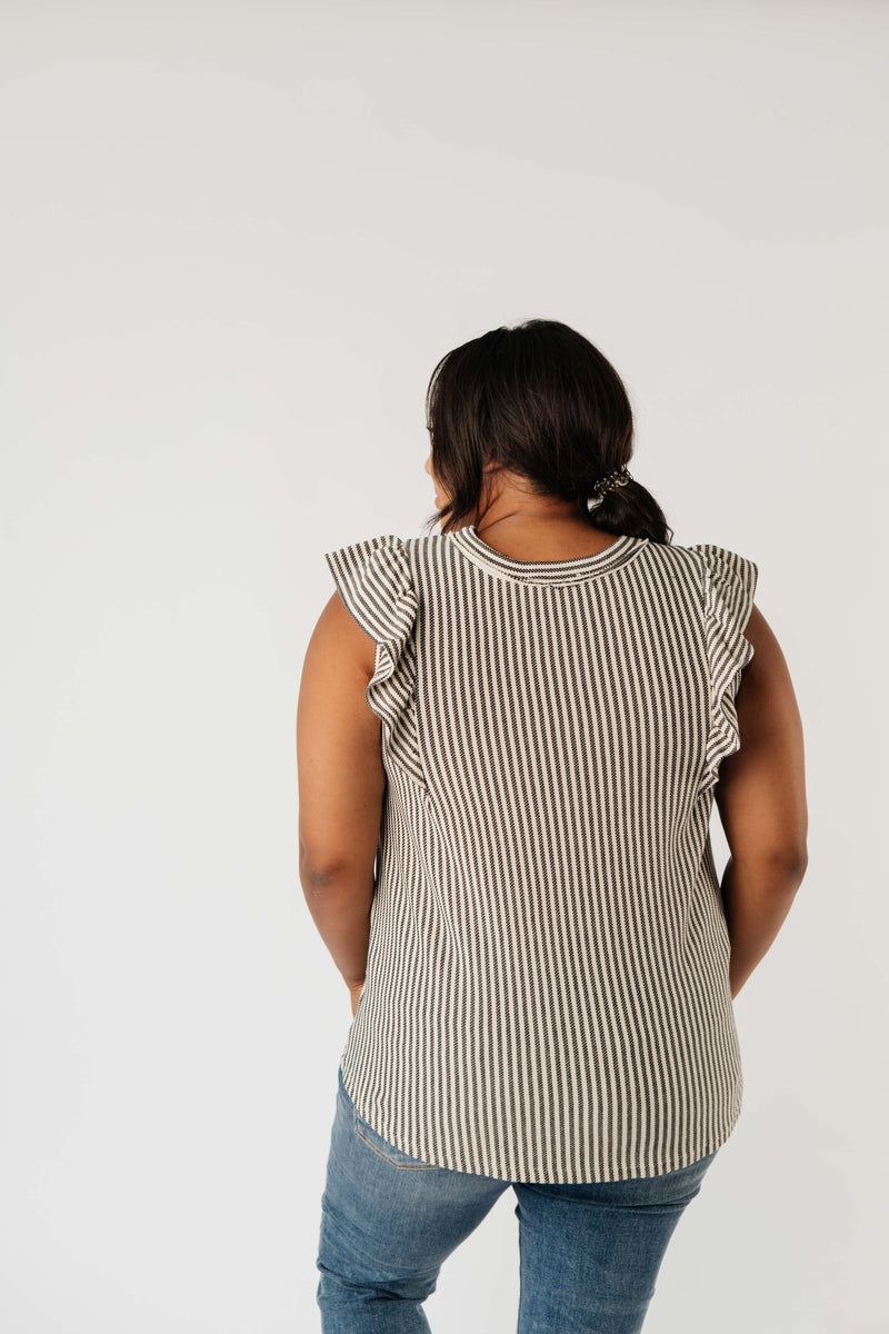 Tessa Textured Stripe Top