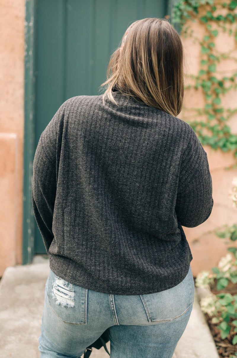 Bower Sweater in Charcoal