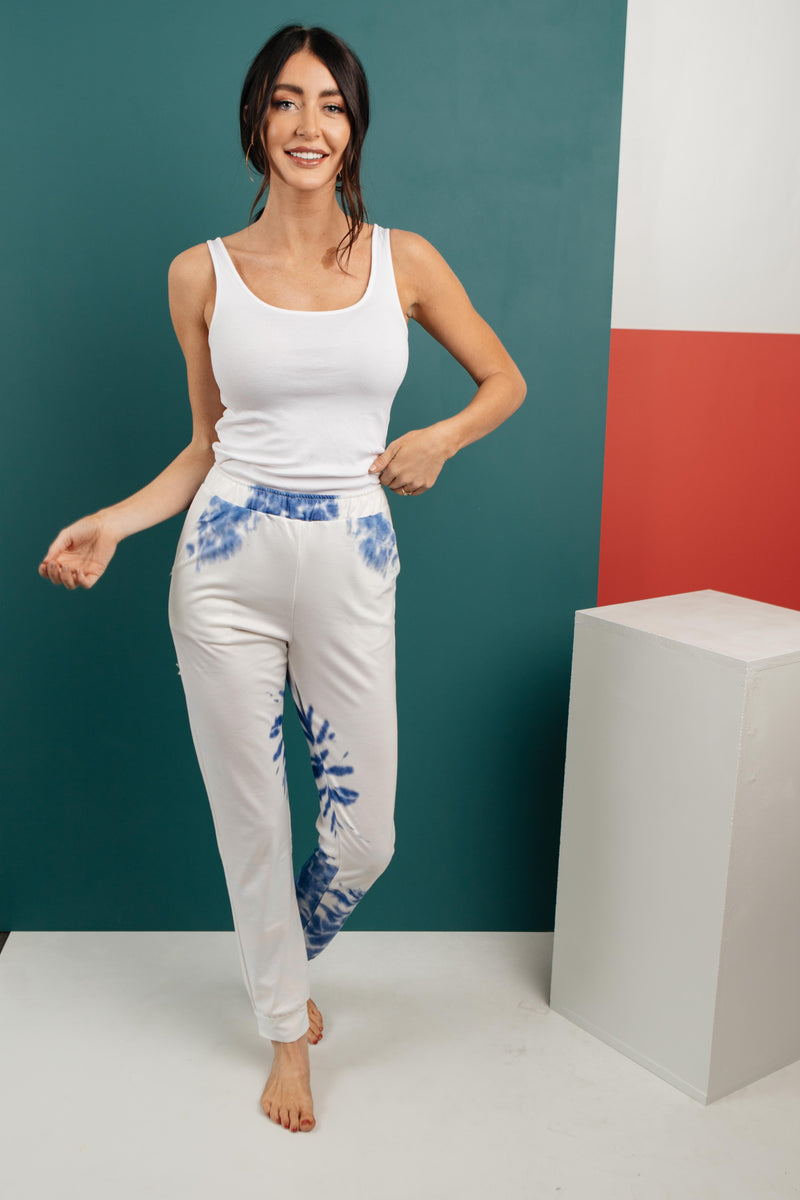 Bursts Of Blue Joggers