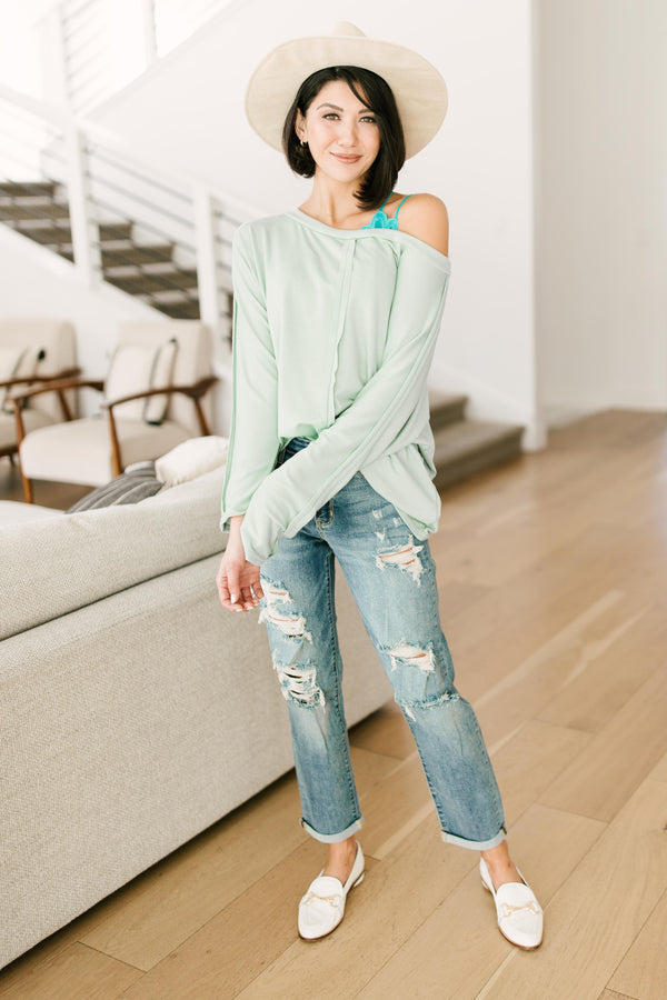 Center Stage Sweater in Sage