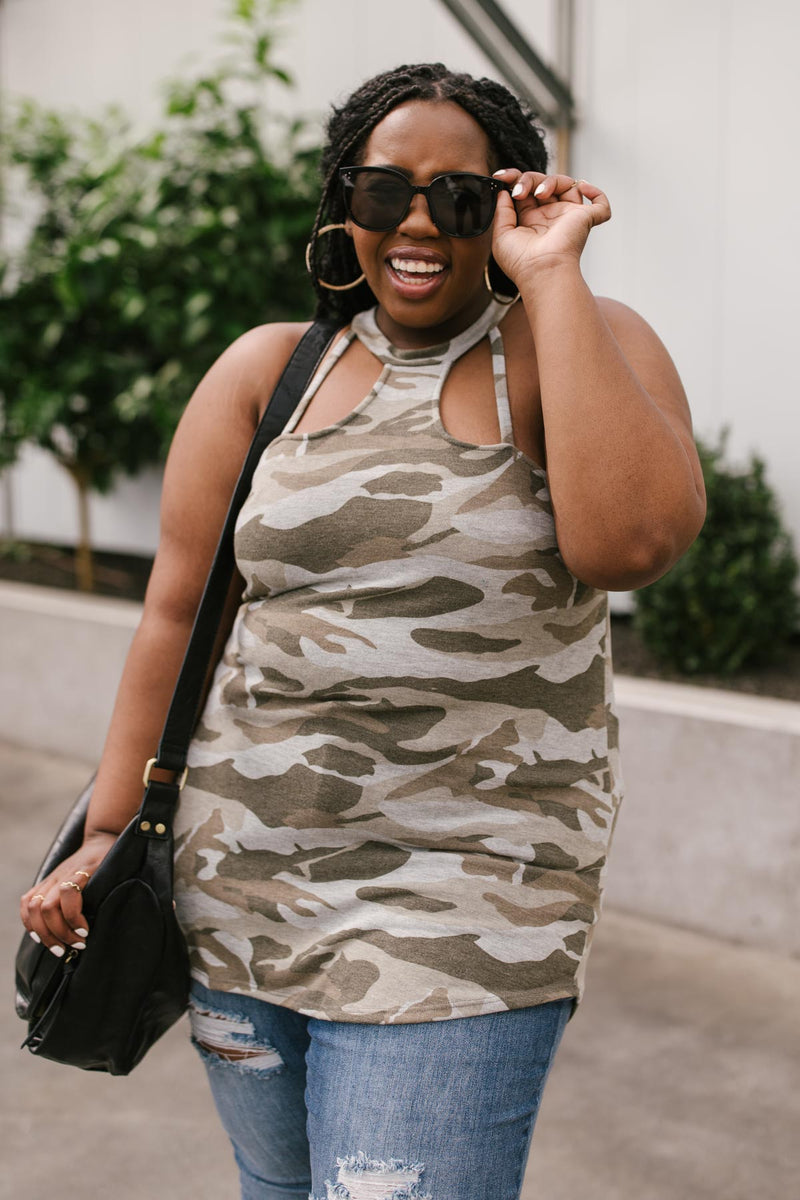 Drop and Give Me: Camo Tank