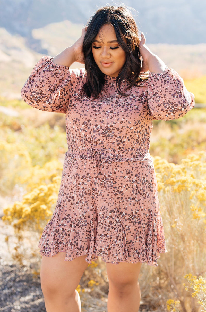 Fancy Me Floral Dress in Mauve