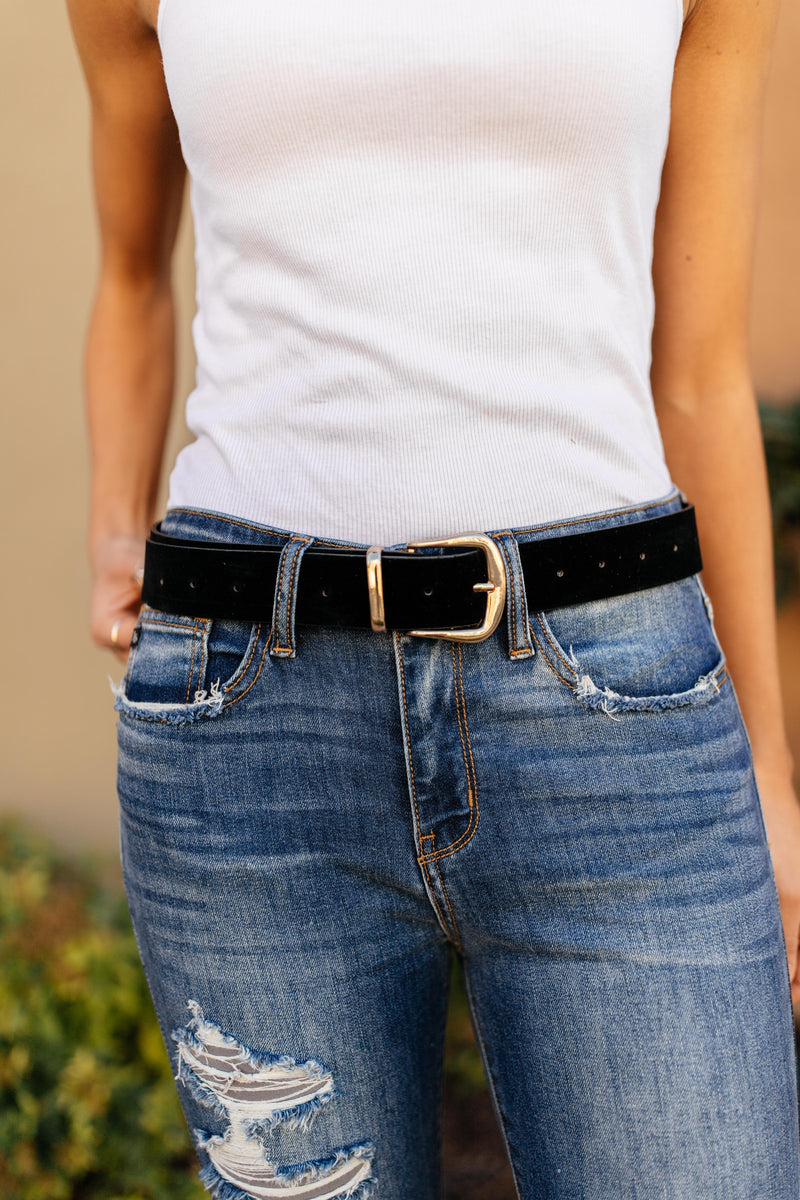 Fasten Your Belt in Black