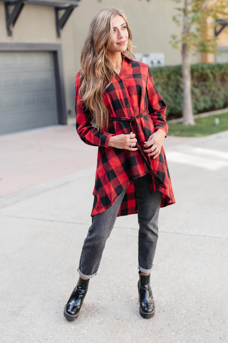 Great And Grand Plaid Top