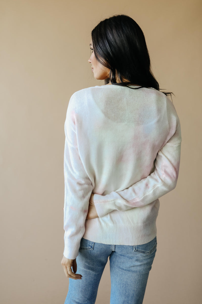 Heavenly Sweater In Pale Yellow & Pink