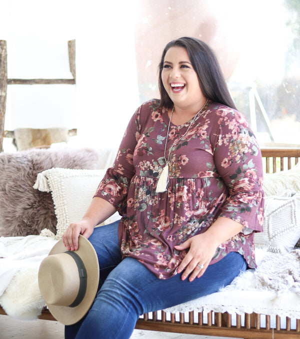 Wine Country Floral Top