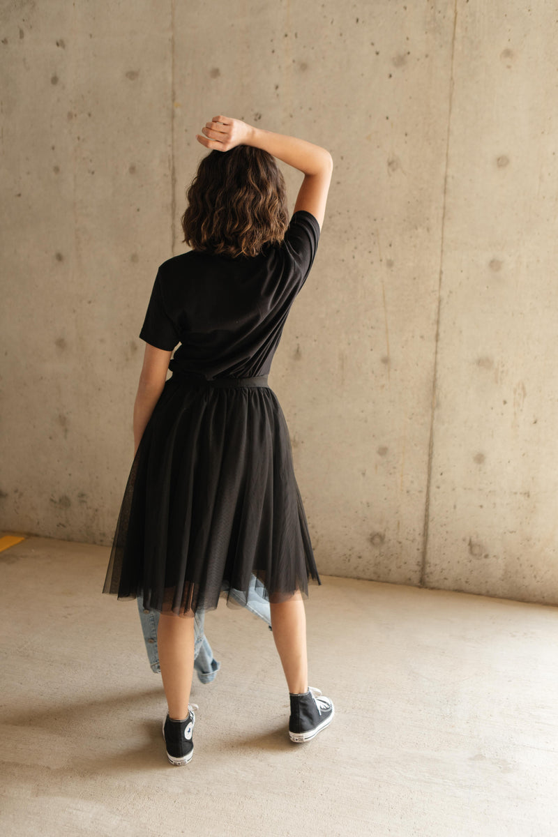 Indulge Tulle Skirt In Black