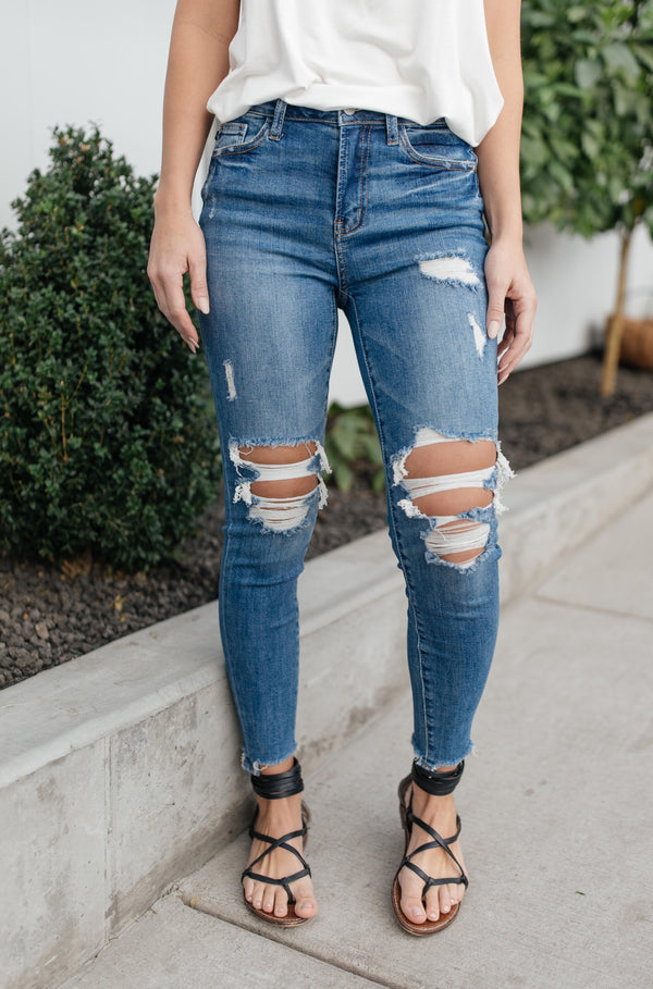 Just At The Knee Jeans
