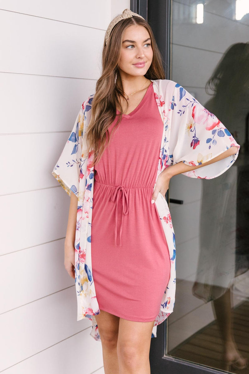 Cute Comfort Dress In Terracotta