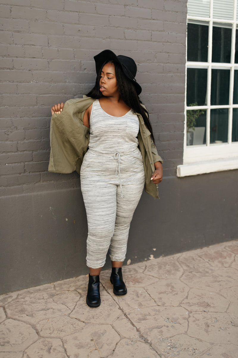 Lounge In Style Melange Jumpsuit