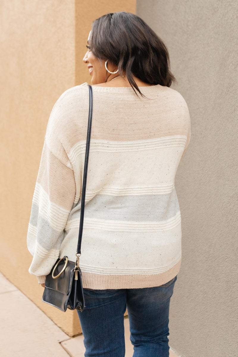 Muted Tones Striped Top
