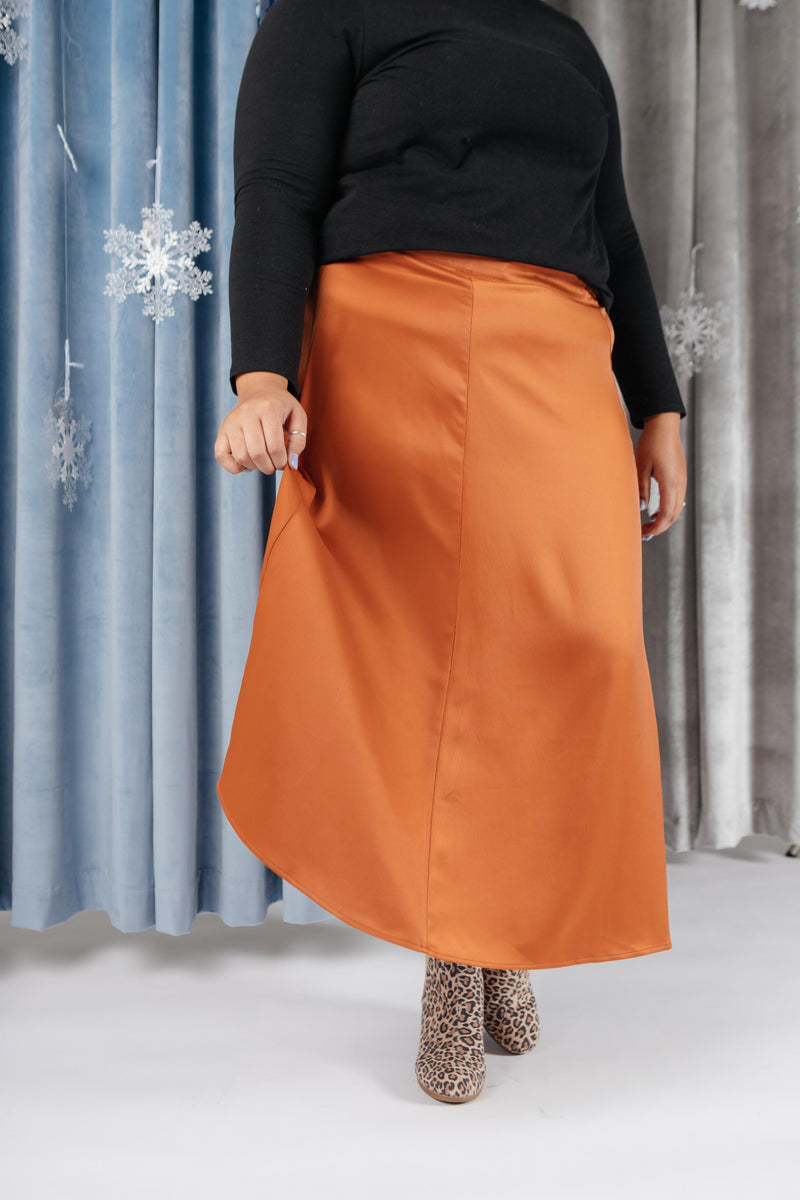 Once Upon A Time Skirt in Tangerine