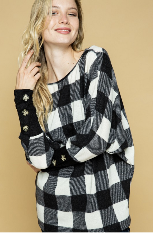 Party in Plaid Pullover Sweater