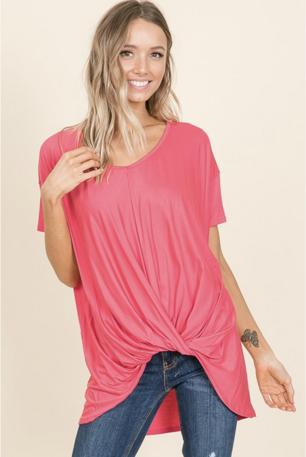 Tunic With a Twist in Fuchsia