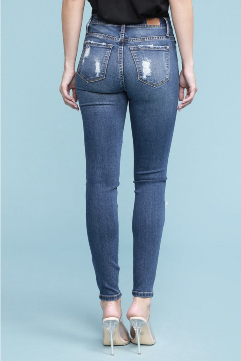 Snakeskin Patched Judy Blue Skinnies