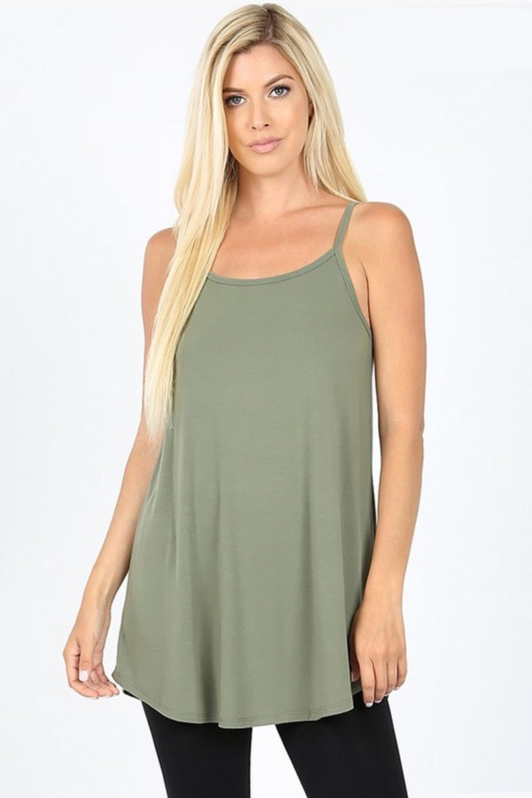 Reversible Tank in Light Olive