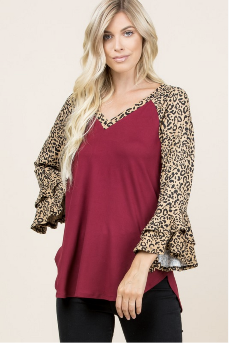 Heartbreaker Bell Sleeve Top