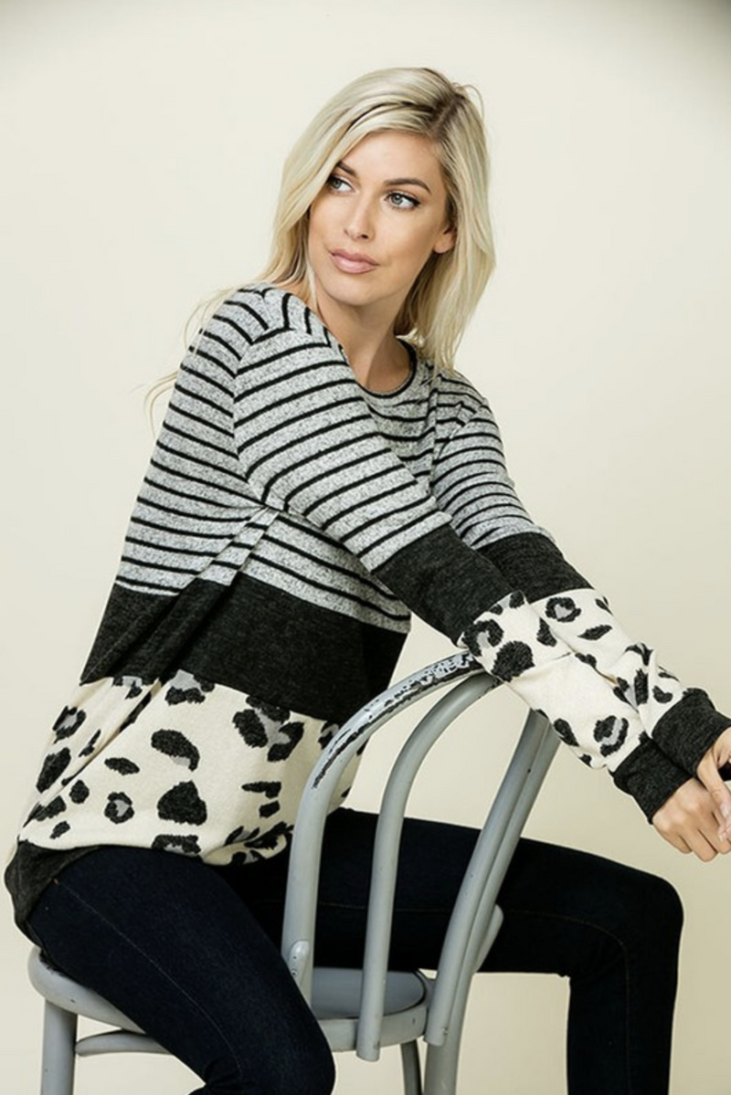 Snow Tracks Sweater