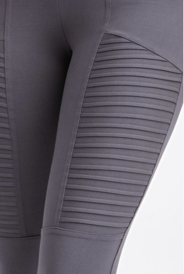 Moto Leggings in Charcoal