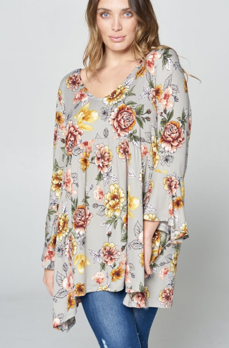 My Happy Place Babydoll Tunic