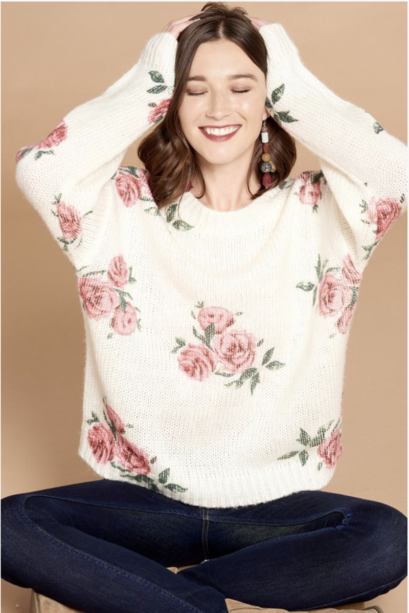 Digital Floral Sweater
