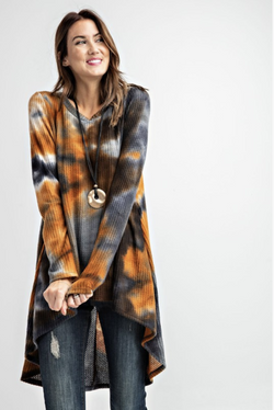 October Nights Waffle Knit Tunic