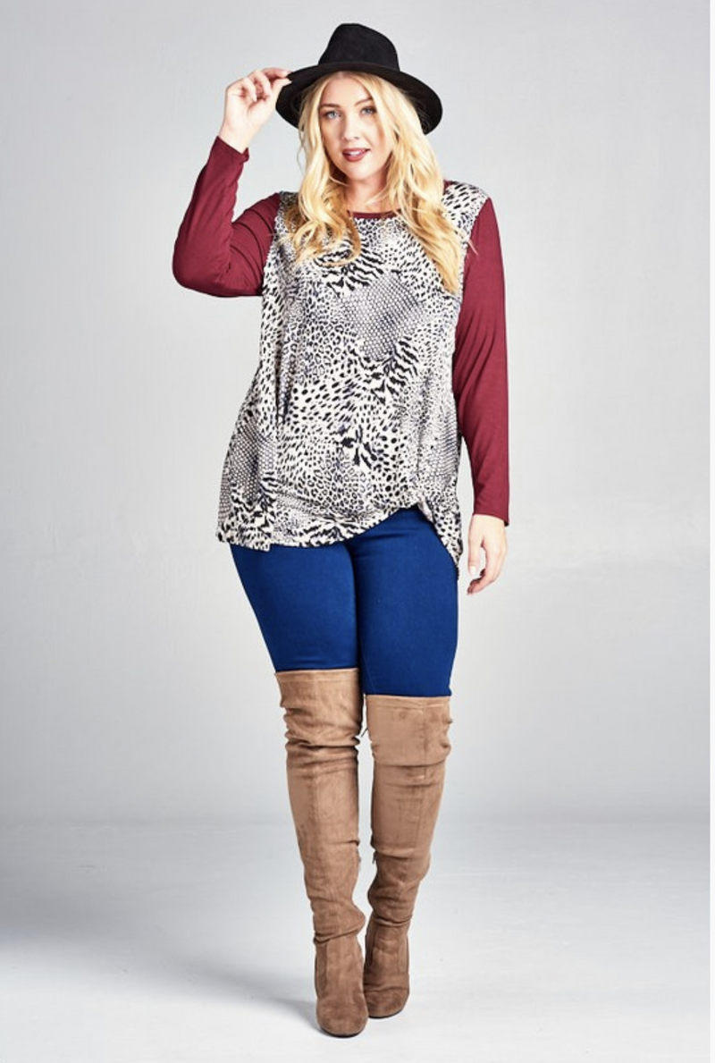 Mix Me Up Twist Tunic