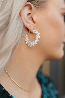 The Crystal Hoop Earrings