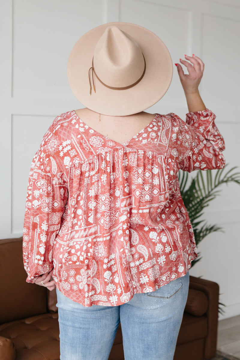 The Perfect Picnic Top in Red