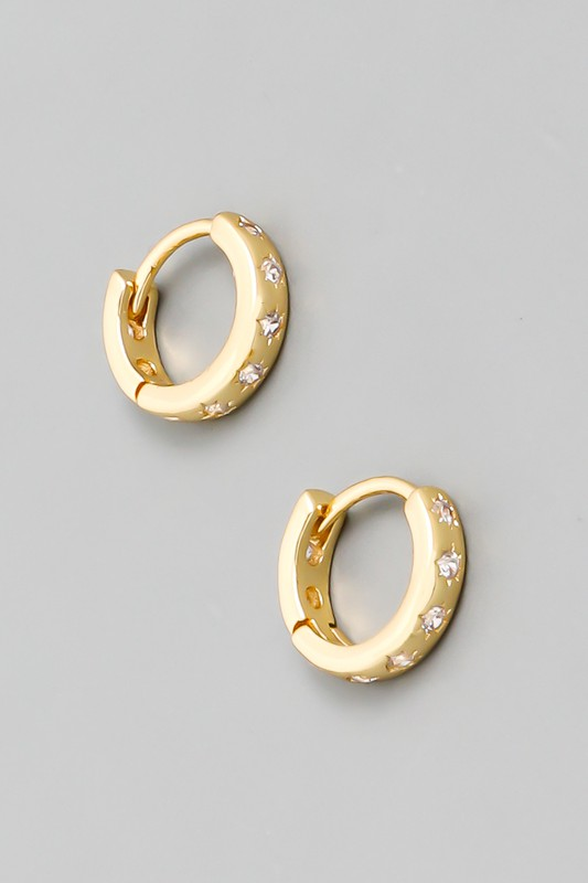 Tiny Sparkle Hoops