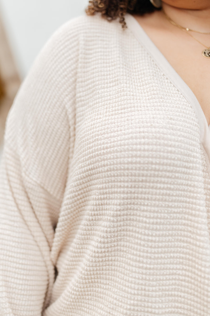 Wrapped In Waffle Knit Top