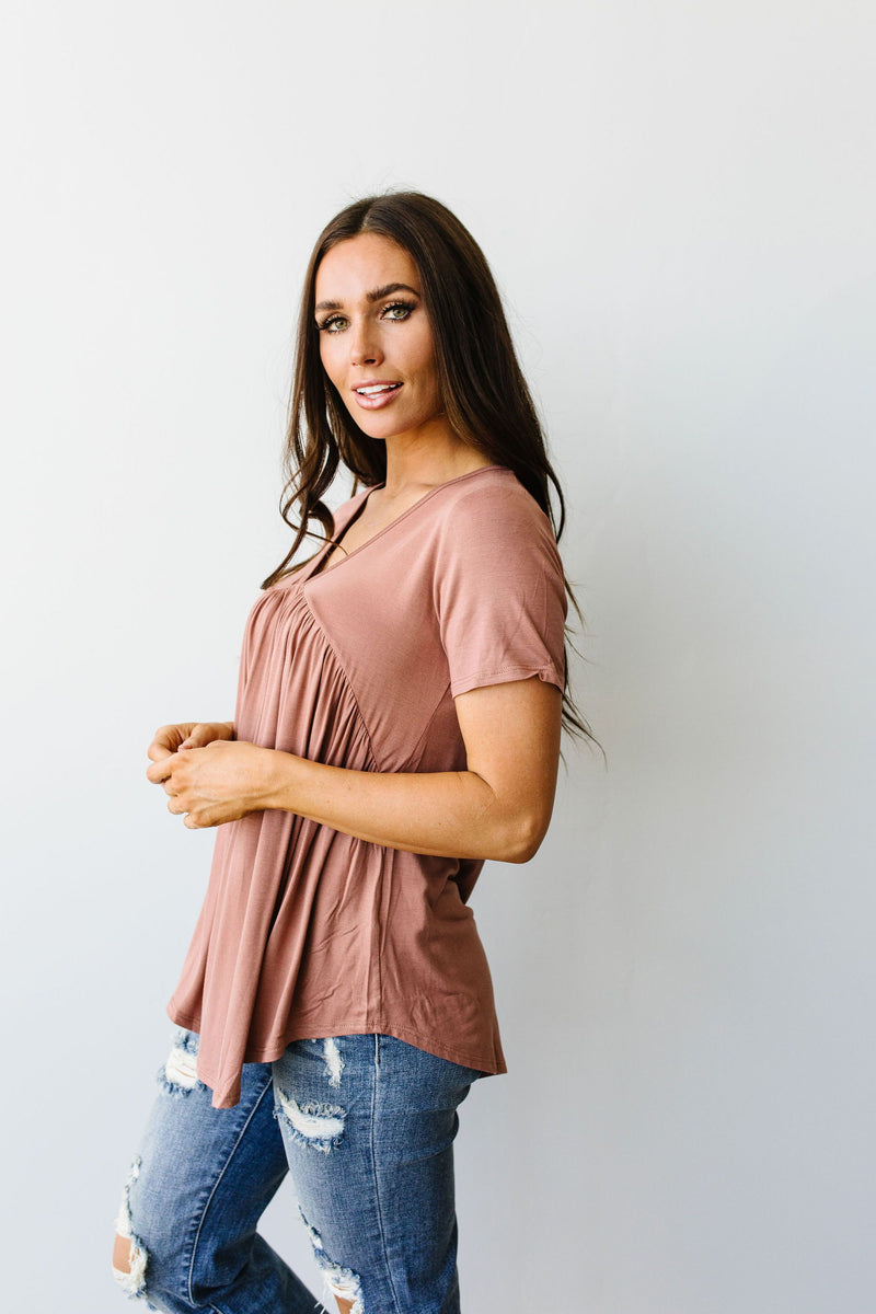Bamboo Knit Top In Ginger