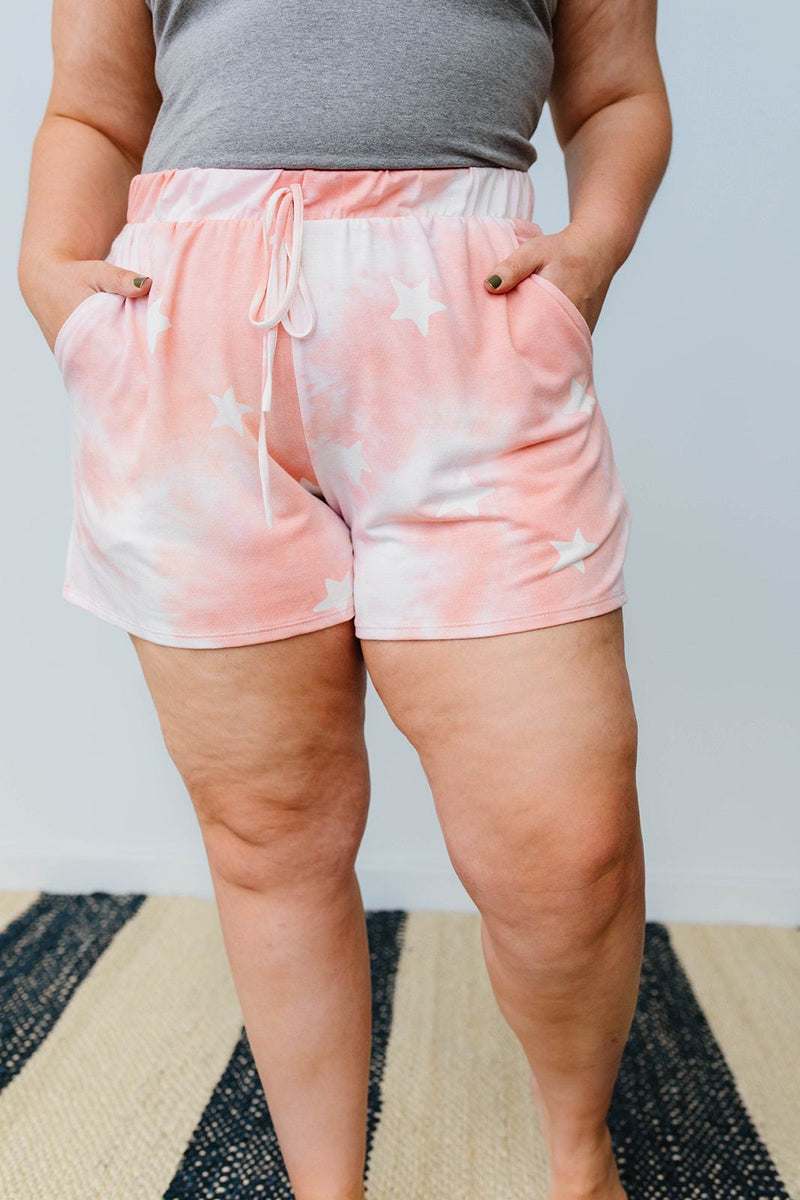 Cloudy With A Chance Of Stars Shorts In Blush