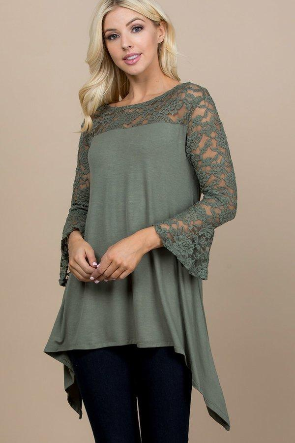 Olive & Lace Fishtail Tunic