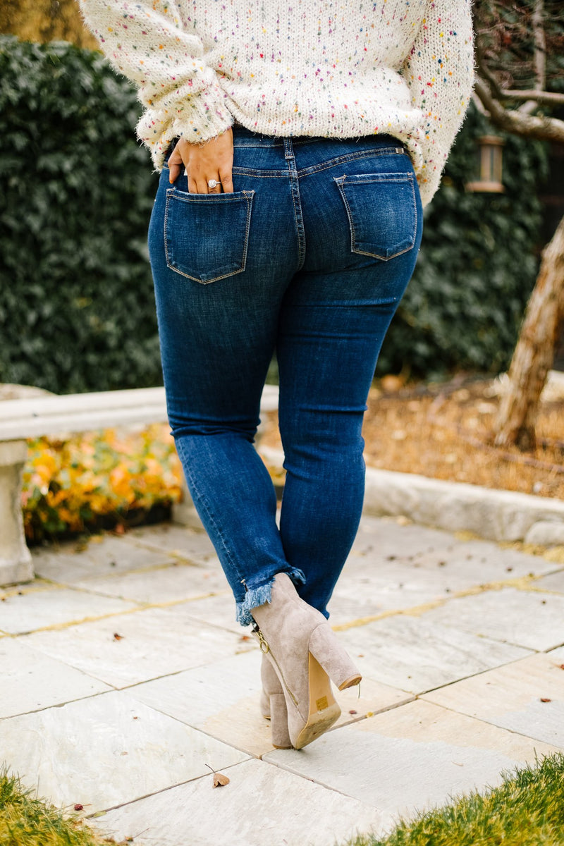 Double Trouble Fringed Jeans