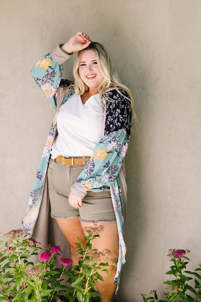 Flower Patch Long Cardigan