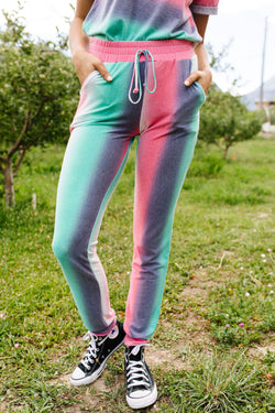 Hazy Pastel Stripes Lounge Joggers