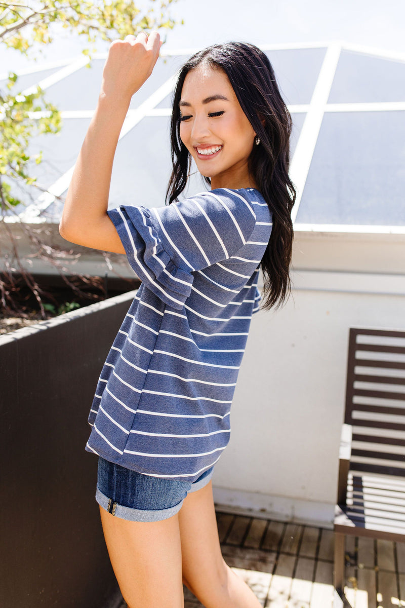 Make It A Double Striped Top