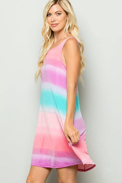 Summer Sunset Swing Dress