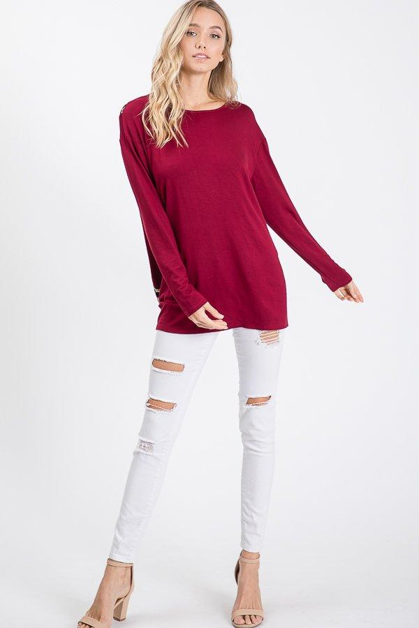 Wild in Wine Open Back Tee