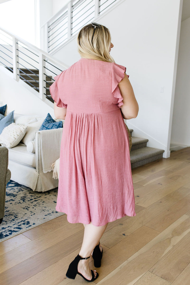 Picture This Mauve Midi Dress