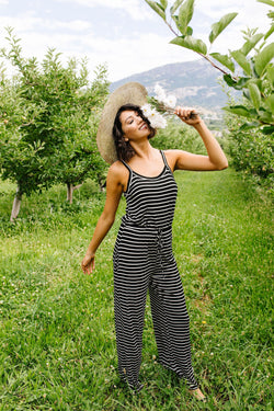 Play All Day Striped Jumpsuit