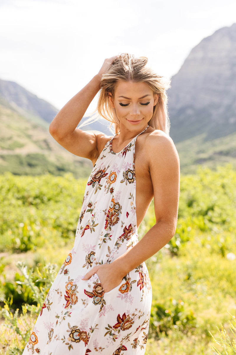 Quaint Floral Maxi Dress