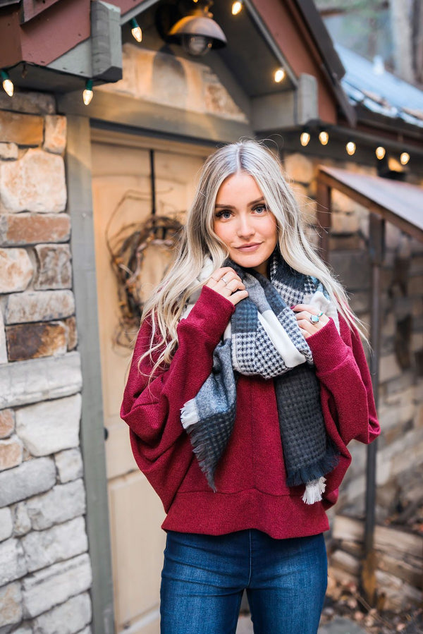 Salt + Pepper Scarf Forever