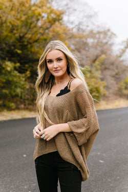 Sheer We Go Again Sweater In Mocha